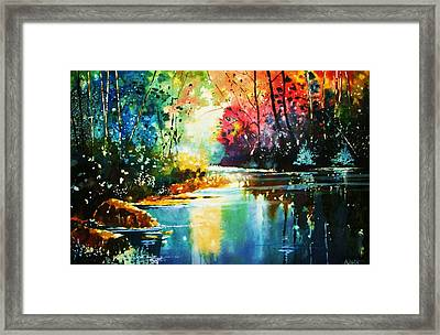 A Glow In The Forest Framed Print by Al Brown