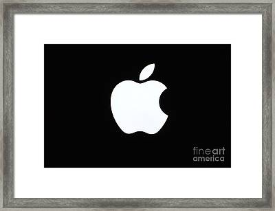 A Glowing Apple Framed Print