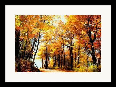 Fall Landscape Digital Art Framed Prints