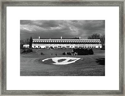 A Golf Course In West Virginia Framed Print by Constantin Joffe