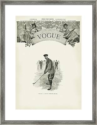 A Golfer In A Norfolk Jacket Framed Print by Artist Unknown