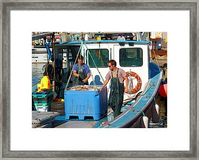 A Good Day Fish'n Framed Print