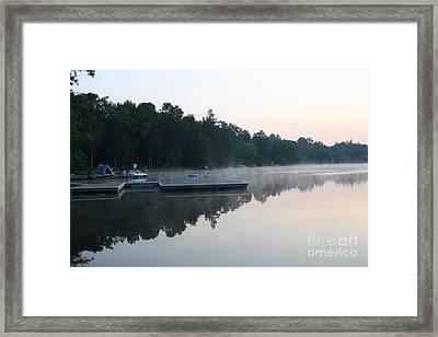 A Good Day For Canoeing Framed Print by Steve Knapp
