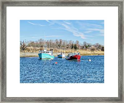 A Good Day To Fish Framed Print by Roxanne Marshal