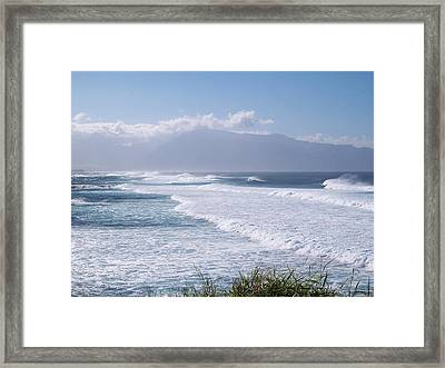 Framed Print featuring the photograph A Good Day To Stay Out Of The Water. by Sheila Byers