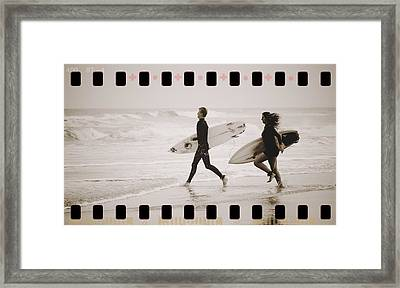 Framed Print featuring the photograph A Good Day To Surf by Alice Gipson