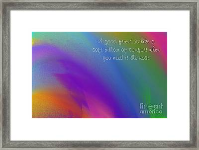 A Good Friend Poem And Abstract Square 4  Framed Print