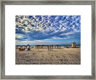 a good morning from Jerusalem beach  Framed Print by Ron Shoshani