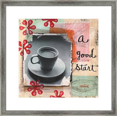 A Good Start Framed Print