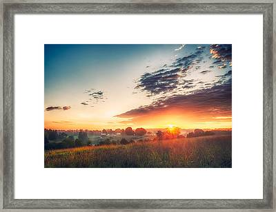 A Goode Sunrise Framed Print
