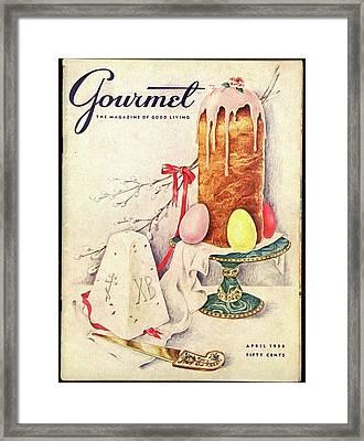 A Gourmet Cover Of A Cake Framed Print