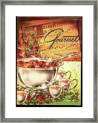 A Gourmet Cover Of Apples Framed Print by Henry Stahlhut