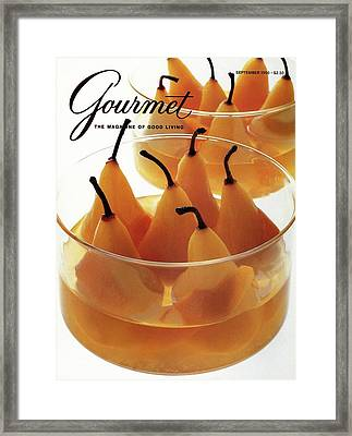 A Gourmet Cover Of Baked Pears Framed Print