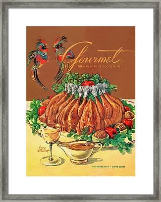 A Gourmet Cover Of Chicken Framed Print