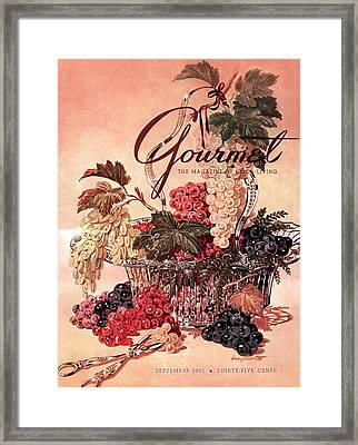 A Gourmet Cover Of Grapes Framed Print