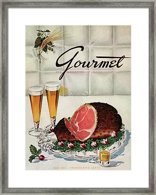 A Gourmet Cover Of Ham Framed Print
