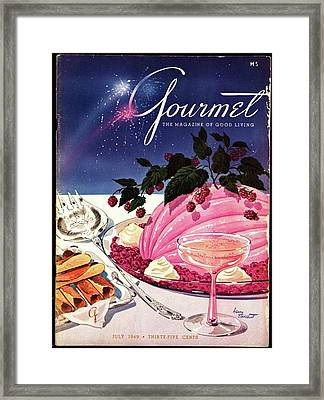 A Gourmet Cover Of Mousse Framed Print by Henry Stahlhut