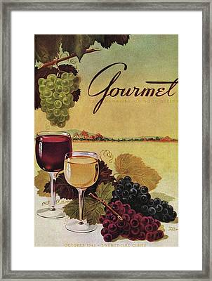 A Gourmet Cover Of Wine Framed Print by Henry Stahlhut