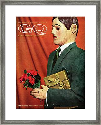 A Gq Cover Of A Hammonton Park Suit Framed Print by Manuel Denner