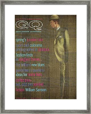 A Gq Cover Of Glen Plaid Framed Print by Henry Haberman