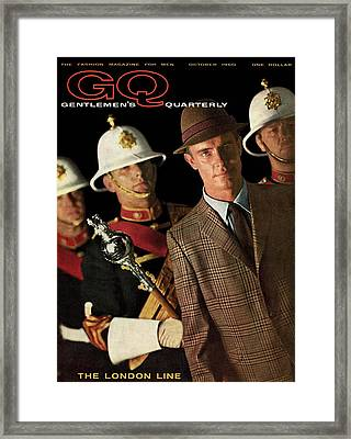 A Gq Cover Of Guards Framed Print by Chadwick Hall
