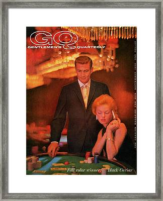 A Gq Cover Of Models At Casino De Capri In Havana Framed Print by Richard Waite