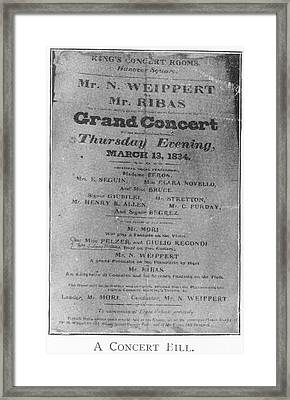 A Grand Concert Framed Print by British Library