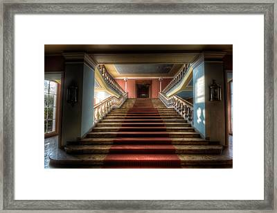 A Grand Stair Way Framed Print