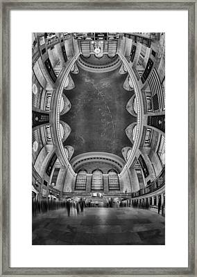 A Grand View Bw Framed Print by Susan Candelario
