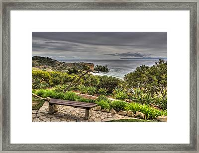 A Grand Vista Framed Print