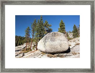 A Granite Boulder Framed Print