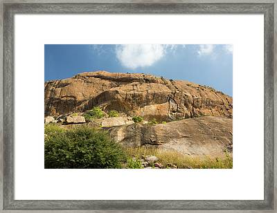 A Granite Peak In The Western Ghats Framed Print by Ashley Cooper