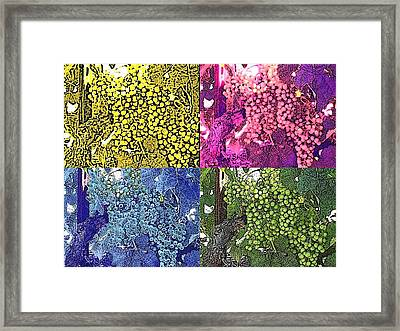 A Grapeful Tribute To Andy Framed Print