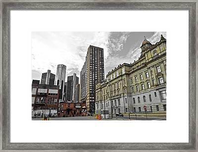 A Gray Day In Detroit Framed Print by Frozen in Time Fine Art Photography