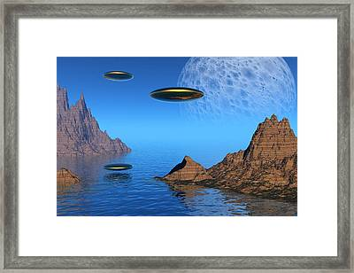 Framed Print featuring the digital art A Great Day For Flying by Lyle Hatch