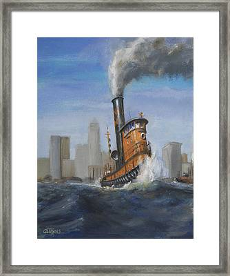 A Great Day For Tugs Framed Print by Christopher Jenkins