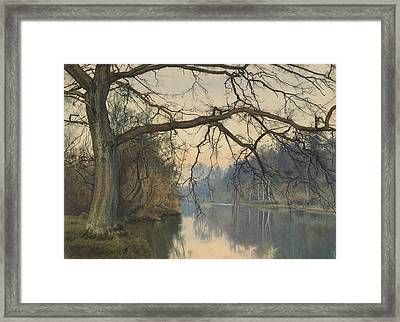 A Great Tree On A Riverbank Framed Print by William Fraser Garden