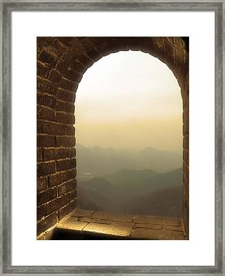 A Great View Of China Framed Print by Nicola Nobile