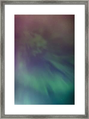 A Green Aurora Borealis Corona Framed Print