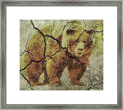 A Grizzly - Cave Wall Art Framed Print by Dragica  Micki Fortuna