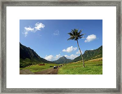 A Group Of Atv Quad Riders Take Framed Print by Stocktrek Images