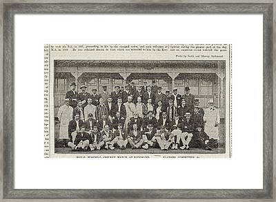 A Group Of Cricketers Framed Print