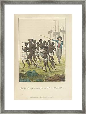A Group Of Negros Framed Print by British Library