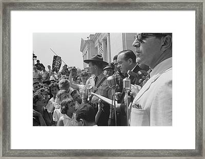 A Group Of Protestors In Washington Framed Print by Stocktrek Images