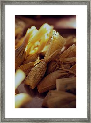 A Group Of Tamalitos Framed Print by Romulo Yanes