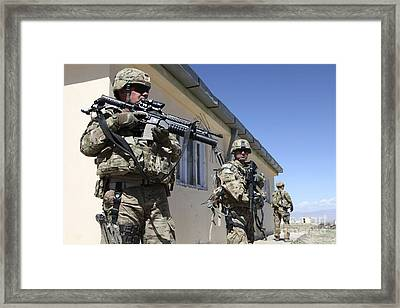 A Group Of U.s. Army Soldiers Provide Framed Print