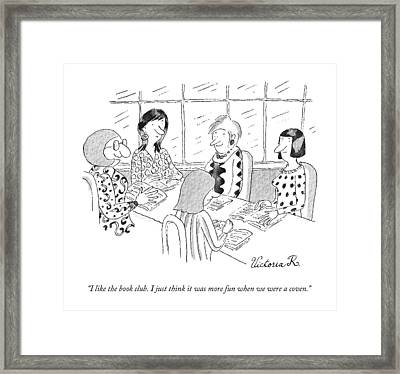 A Group Of Women Sitting Together Framed Print