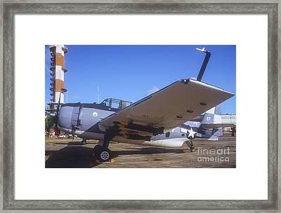A Gruman Tbf Avenger Torpedo Bomber Framed Print by Michael Wood