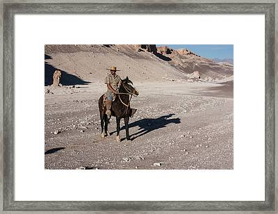 A Guided Ride Through The Death Valley Framed Print