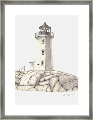 Framed Print featuring the drawing A Guiding Light by Patricia Hiltz